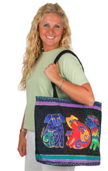 Laurel Burch Dogs and Doggies Square Purse