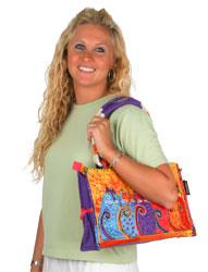 Laurel Burch Feline Tribe Medium Tote Bag