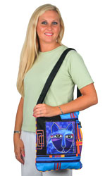 Laurel Burch Whiskered Cats Crossbody Tote