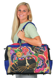 Laurel Burch Carlotta's Cats Overnighter Travel Bag